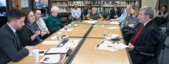View of table during discussion