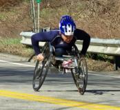 woman wheelchair racer