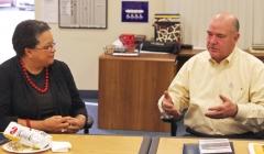 Secretary Bigby and Ed Carr (MWRTA)