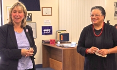 Senator Spilka introduces Secretary Bigby