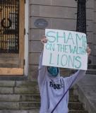 "Protestor: ""Shame on the Waltham Lions"""