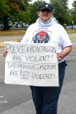 police and pentagon are violent. Sad anxious upset ppl are NOT violent