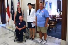 David, Mike and Sadie at Senator Markey's office