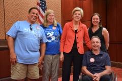 David, Mike, Sadie and Sue with Senator Warren