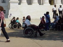 Roland at ADAPT action, Washington DC