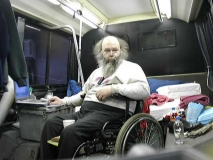Self-Taken Picture of Roland in his Bus