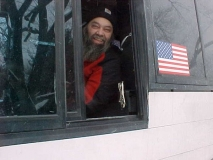 Roland - ADAPT bus driver, Sept 2007 - This is the most recent and best picture of Roland in the driver's seat.