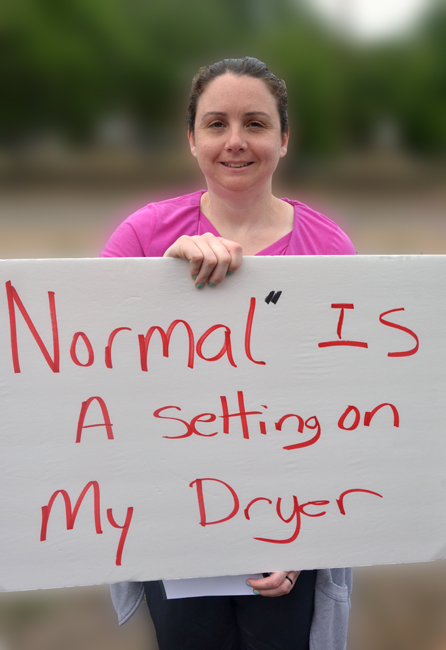 Normal is a Setting on My Dryer - protester at boston globe 2016