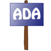 sign with ADA
