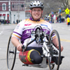 photo of handcycle racer