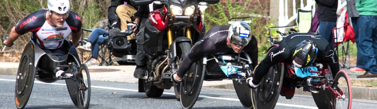 2017 boston marathon lead male wheelchair racers