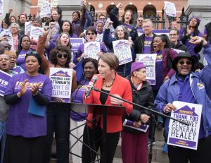 Maura Healey at 2019 PCA Rally