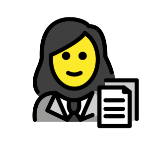 woman with papers