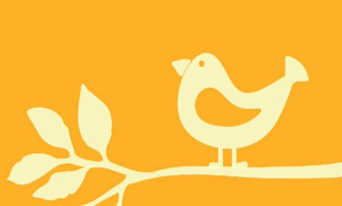 logo for matalesofindependence.net. A yellow background with a white bird on a white branch.