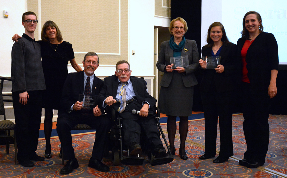 All of the awardees, Paul and families